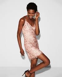 sheath dress plunging v neck crochet lace sheath dress express