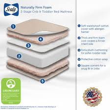 Foam Crib Mattresses Sealy Naturally Firm 2 Stage Foam Crib Mattress Baby Nursery