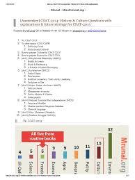 mrunal csat 2014 answerkey history u0026 culture with explanations