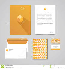 letterhead envelope and business card stock vector image 10551796