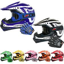 motocross helmet leopard children kids motorcross motocross helmet goggles gloves off
