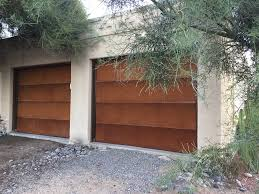 Overhead Door Tucson One Year After Installation And They Look Better Than They