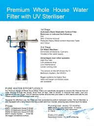 uv light for well water cost point of entry