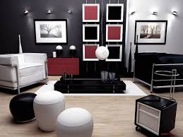 red black white living room capitangeneral