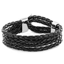 braided cord bracelet images Shop black braided leather multi cord bracelet free shipping on jpg