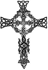 free symmetrical tribal designs of crosses free clip