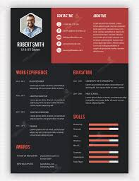 unique resumes resume template design free creative cv templates with