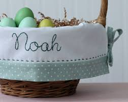 personalized easter basket liners personalized easter basket liners with by tadacreations