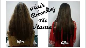 Hair Rebonding At Home | hair rebonding at home urdu hindi youtube