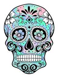 sugar skull hologram stickers by kt farello designs redbubble