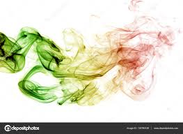 Green Yellow Red Flag Abstract Background Smoke Curves And Wave Reggae Colors Green Y