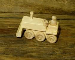 wooden toy bulldozer etsy