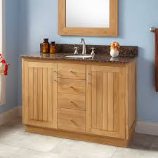 18 Depth Bathroom Vanity Furniture Light Brown Wooden Narrow Depth Vanity With Striped