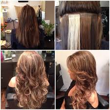 salt and pepper tape in hair extentions before and after seamless tape hair extensions cute hairstyles
