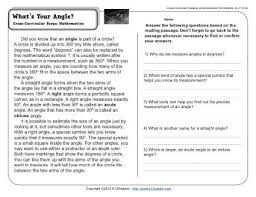 what u0027s your angle 4th grade reading comprehension worksheet