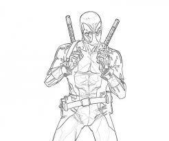 deadpool coloring pages bestofcoloring