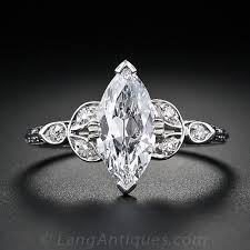 marquise cut diamond ring 1 18 carat marquise cut vintage diamond engagement ring