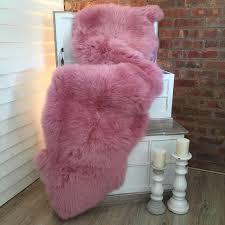 Faux Fur Sheepskin Rug Pink Sheepskin Rug Best Rug 2017