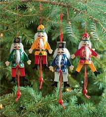 nutcracker ornaments set of 4 wooden animated nutcracker ornaments decorating the tree