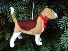 beagle tree ornament ornament wool felt beagle