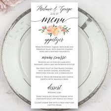 wedding menu cards wedding menu cards wedding menu card smart worker achor weddings