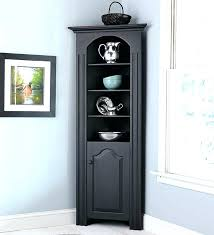tall dining room cabinet black corner curio cabinet lighted full size of storage cabinets