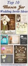 top 10 mason jar wedding invitation ideas my online wedding help