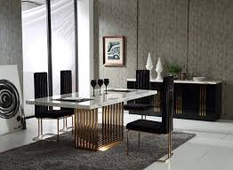 kingsley modern marble rosegold dining table modrest kingsley modern marble rosegold dining table