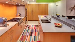 corner cabinet kitchen rug 15 area rug designs in kitchens home design lover