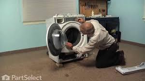 washing machine repair replacing the door bellow whirlpool part