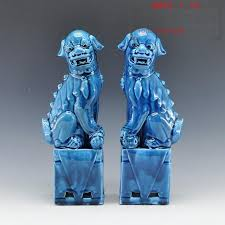 images of foo dogs 1 pair porcelain foo lion foo dogs ceramic figure statue for home