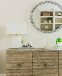modern brown brass oak sideboard