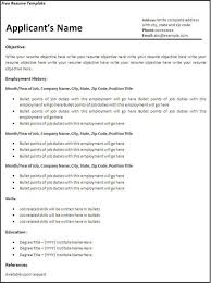 free blank resume templates for microsoft word free blank resume templates for microsoft word