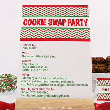 cookie swap invitation amy miller designs
