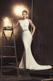 wedding dress styles fitted crêpe wedding dress style 2090 mikaella bridal