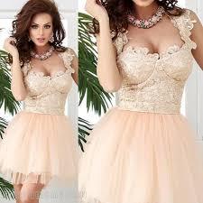 beautiful short blush lace 8th grade graduation dresses tank