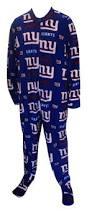 new york giants guys onesie footie pajama show your team spirit