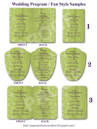 Examples Of Wedding Programs Paper Perfection Wedding Program Fan