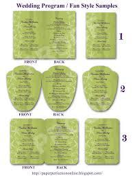 Wedding Program Examples Paper Perfection Wedding Program Fan