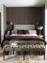 interiors fall decorating ideas features master bedroom with brown