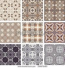 retro vintage ceramic tile seamless pattern stock vector 300962612