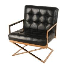 Black Accent Chair Saticoy Accent Chair Black Gold Apt2b
