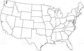 united states map black and white usa white map my