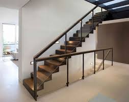 Home Interior Staircase Design by Stunning Wooden Staircase Design With Clear Glass Baluster And