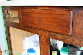 Gel Stained Cabinets Before And After How To Use Gel Stain On Cabinets The Good U0026 The Bad