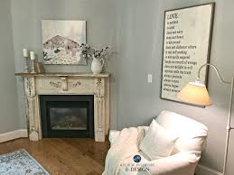 benjamin moore arctic gray in bedroom with fireplace old antique