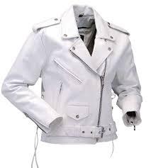 white motorcycle jacket white leather motorcycle jacket w side lace l6027lw