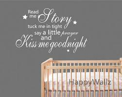 popular baby nursery wall stickers quotes buy cheap baby nursery kiss me goodnight quote wall sticker baby nursery kiss me goodnight children quote wall decal kids