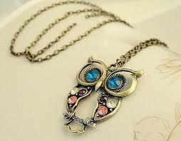 vintage owl pendant necklace images Vintage owl pendant necklace all free store jpg