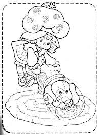 11 images of classic strawberry shortcake coloring pages vintage